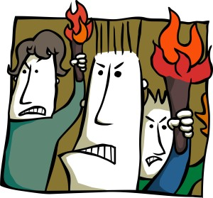 angry activists